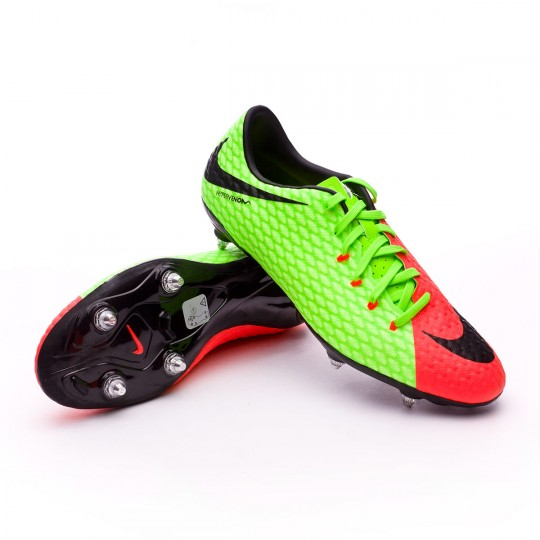 Chuteira  Nike Hypervenom Phelon III SG Electric green-Black-Hyper orange-Volt