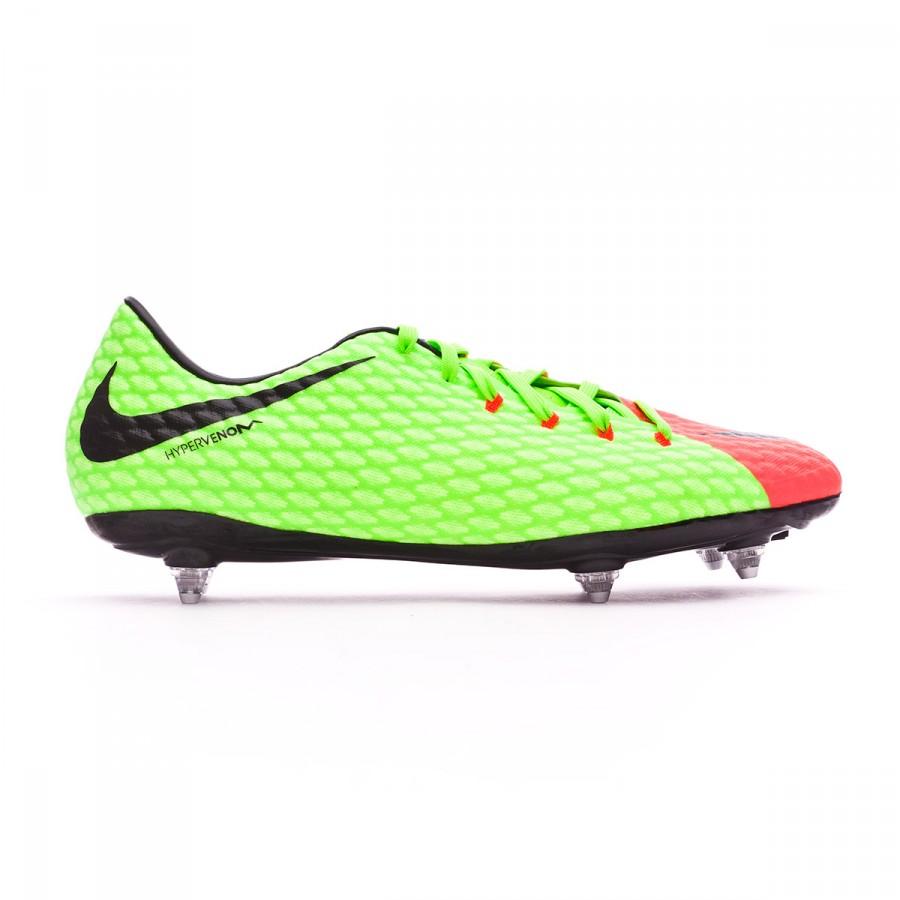 ea8f3ac261df Football Boots Nike Hypervenom Phelon III SG Electric green-Black-Hyper  orange-Volt - Football store Fútbol Emotion