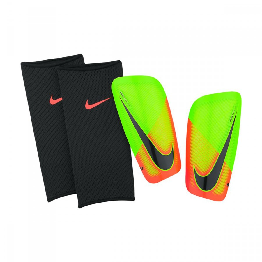 4c4aa560e891 Shinpads Nike Mercurial Lite Shin Guards Electric green-Hyper orange ...
