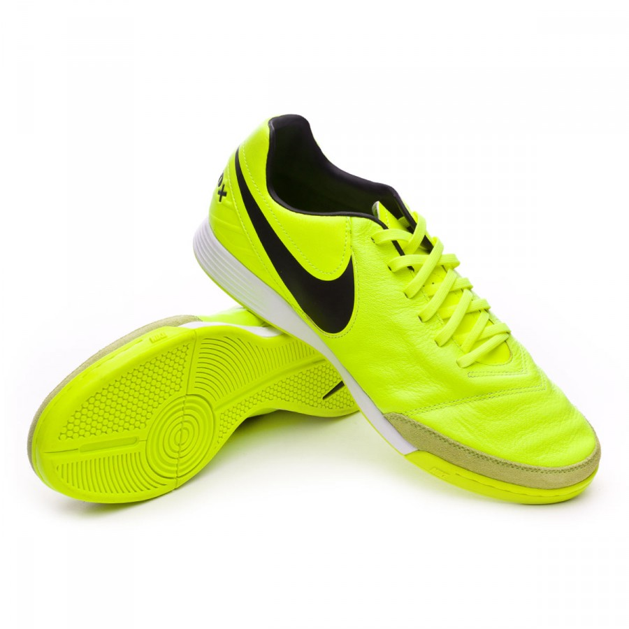 Futsal Boot Nike TiempoX Mystic V IC Volt-Black - Soloporteros es ... a686850a57188