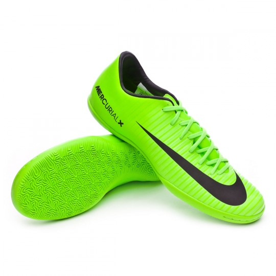 Sapatilha de Futsal  Nike MercurialX Victory VI IC Electric green-Black-Flash lime-White