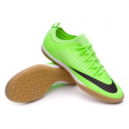 Chaussure de futsal  Nike MercurialX Finale II IC Flash lime-Black-White-Gum light Brown