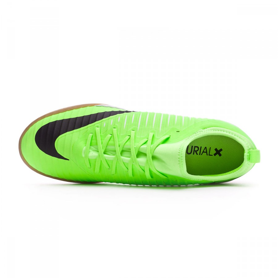 c5f5c6f72 Futsal Boot Nike MercurialX Finale II IC Flash lime-Black-White-Gum light  Brown - Football store Fútbol Emotion
