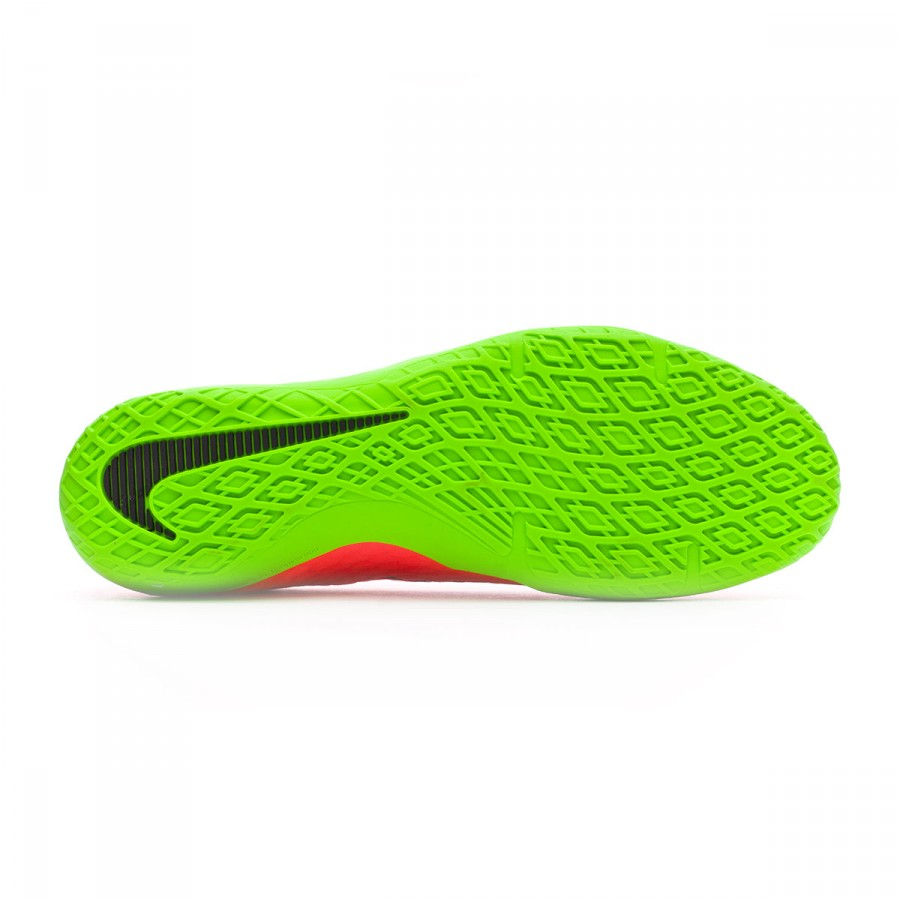 1552bfa6e6d Futsal Boot Nike HypervenomX Phelon III IC Electric green-Black-Hyper orange -Volt - Football store Fútbol Emotion