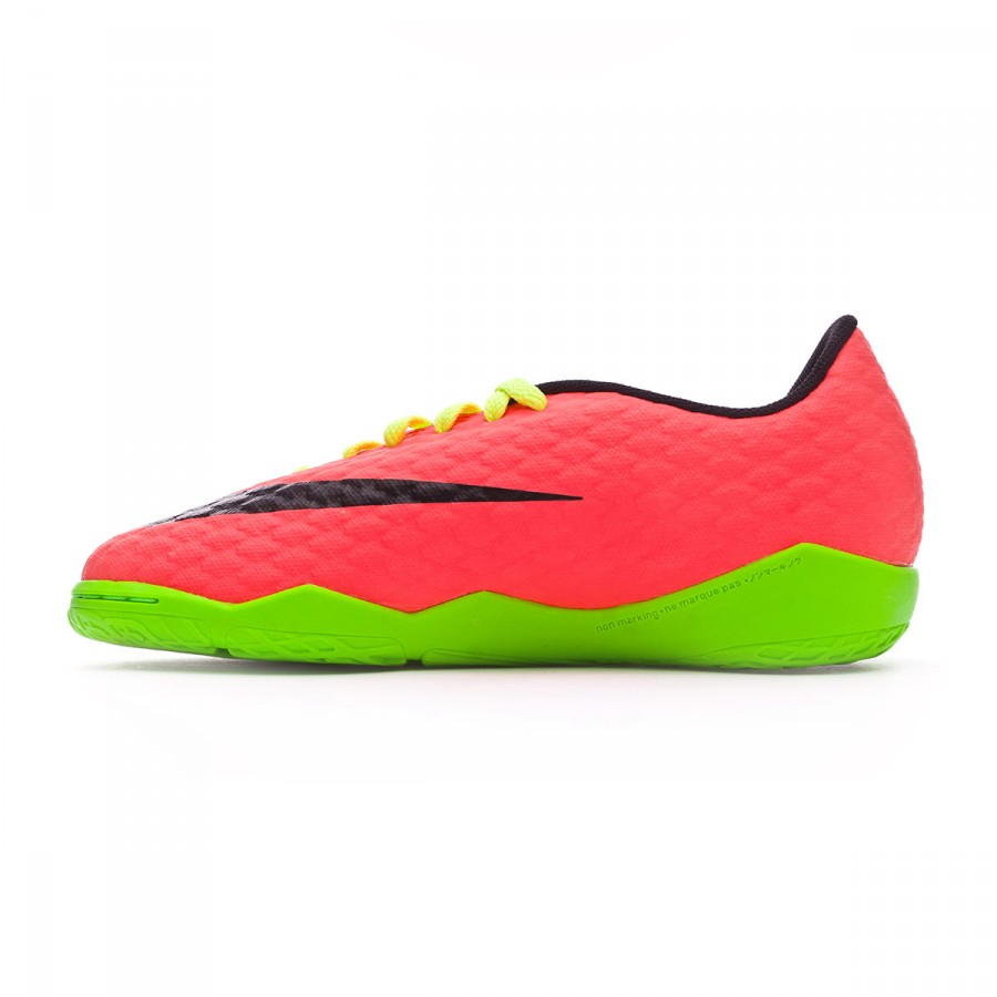 83cee486252 Futsal Boot Nike Jr HypervenomX Phelon III IC Electric green-Black-Hyper  orange-Volt - Tienda de fútbol Fútbol Emotion