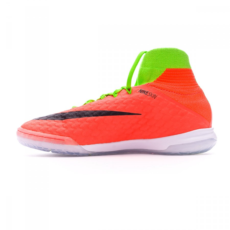 best service 0aff0 de7e1 Chaussure de futsal Nike Jr HypervenomX Proximo II DF IC Electric  green-Black-Hyper orange-Volt - Boutique de football Fútbol Emotion