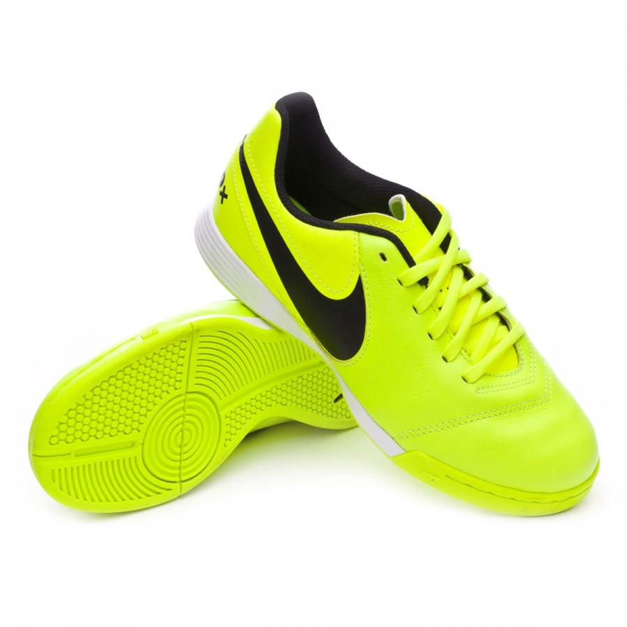Futsal Boot Nike Jr TiempoX Legend VI IC Volt-Black - Soloporteros ... a264d49c57b7b