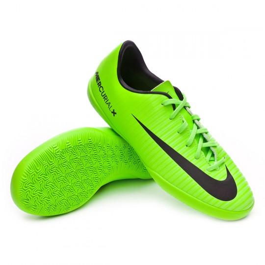 Zapatilla  Nike MercurialX Vapor XI IC Niño Electric green-Black-Flash lime-White