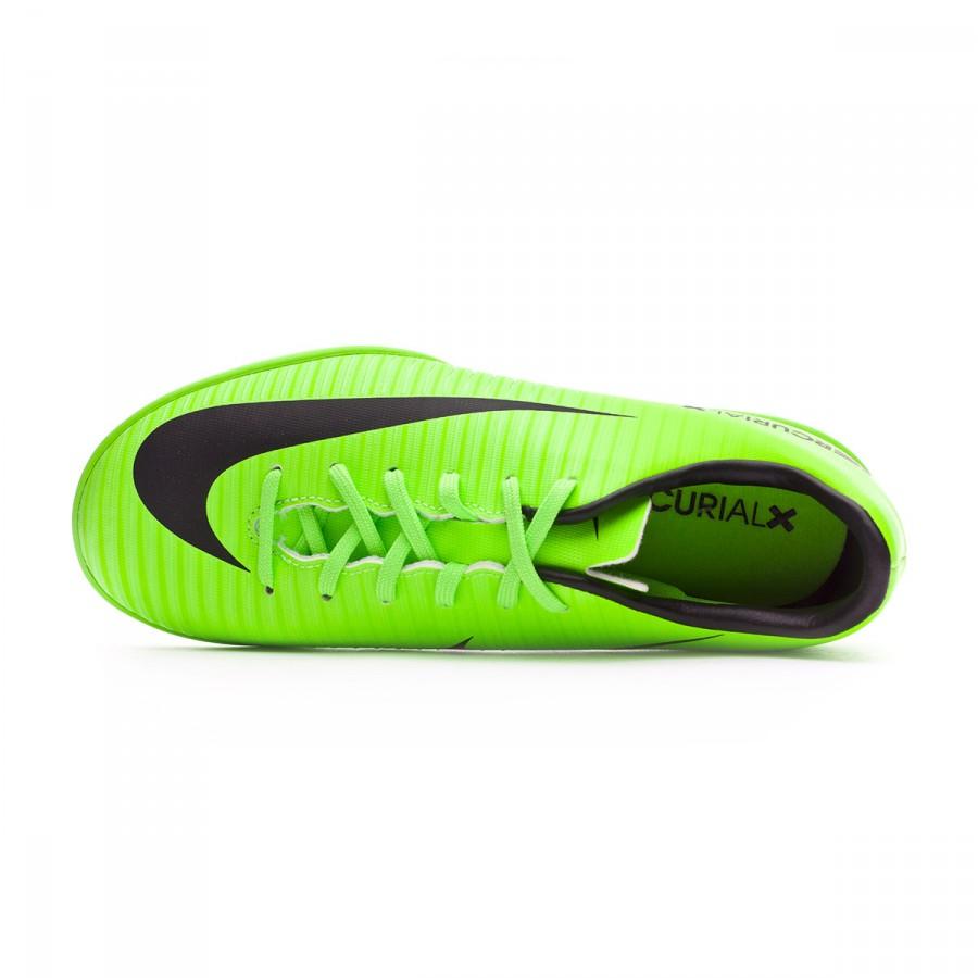 5dd33ef09cb1a Zapatilla Nike MercurialX Vapor XI IC Niño Electric green-Black-Flash lime- White - Tienda de fútbol Fútbol Emotion
