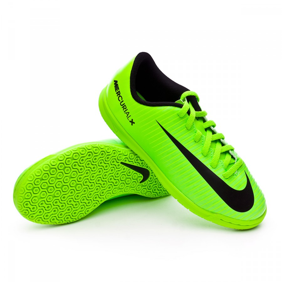 ... Zapatilla MercurialX Vortex III IC Niño Electric green-Black-Flash  lime-White. CATEGORY 73049b3a2d9f3