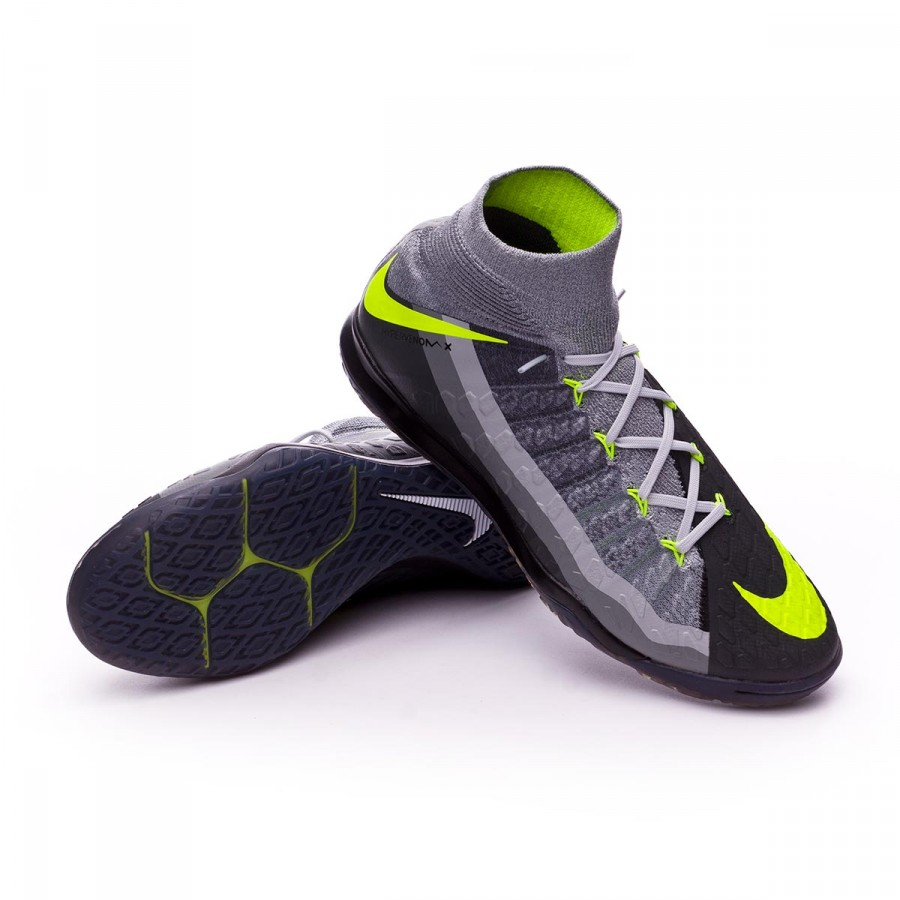 85dbdb6589ec Futsal Boot Nike HypervenomX Proximo II DF IC Black-Volt-Dark grey ...