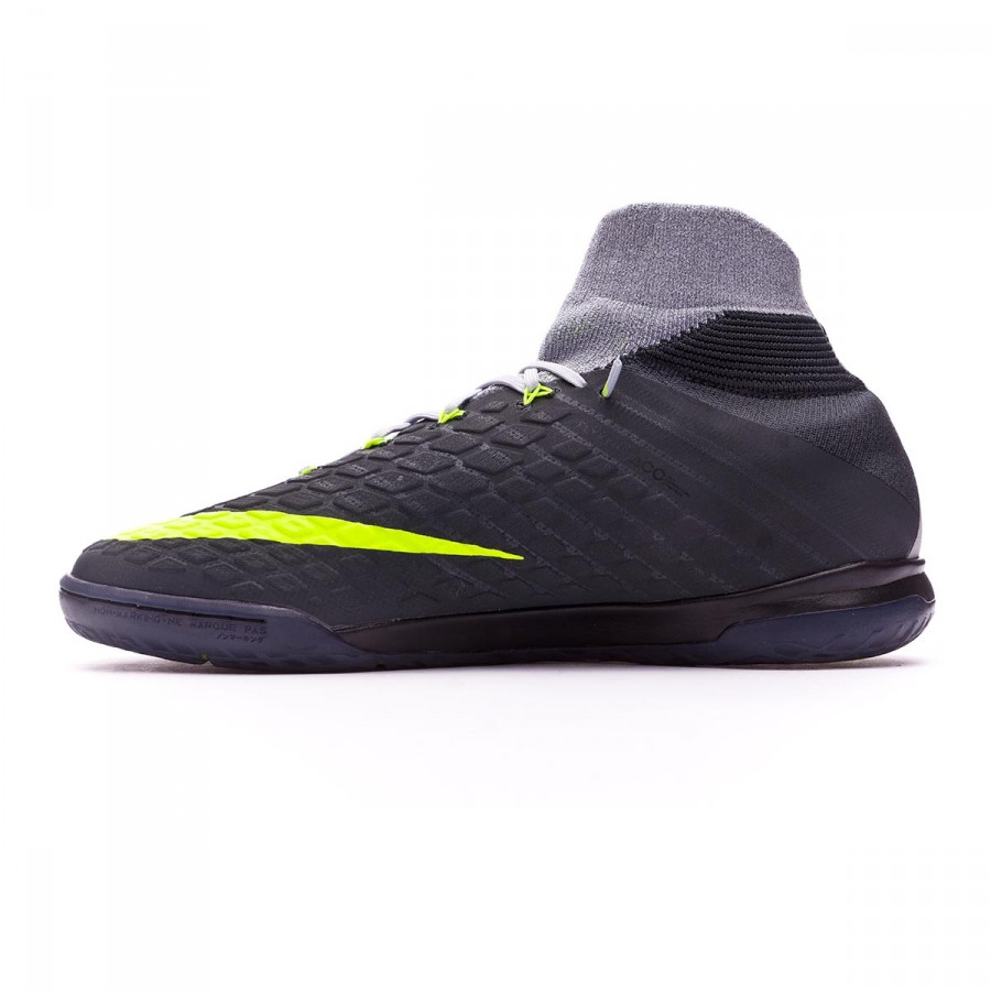 550b9c6b535d Futsal Boot Nike HypervenomX Proximo II DF IC Black-Volt-Dark grey-Wolf  grey - Football store Fútbol Emotion