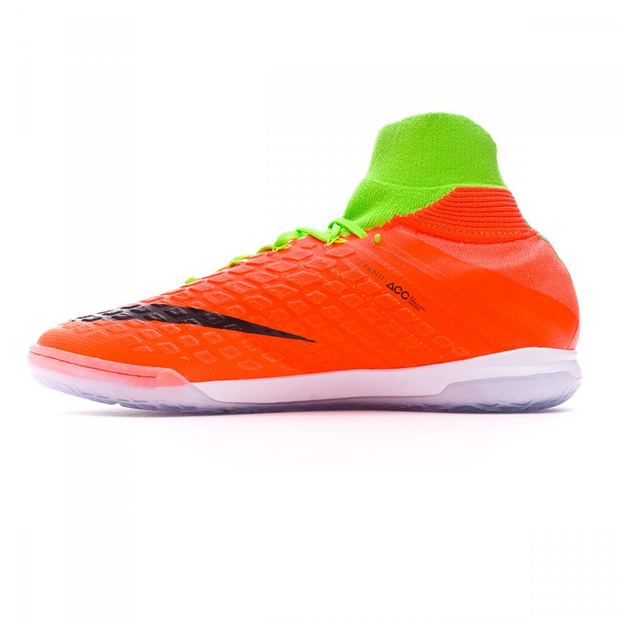 low priced d3b62 76657 Futsal Boot Nike HypervenomX Proximo II DF IC Electric green-Black-Hyper  orange-Volt - Football store Fútbol Emotion