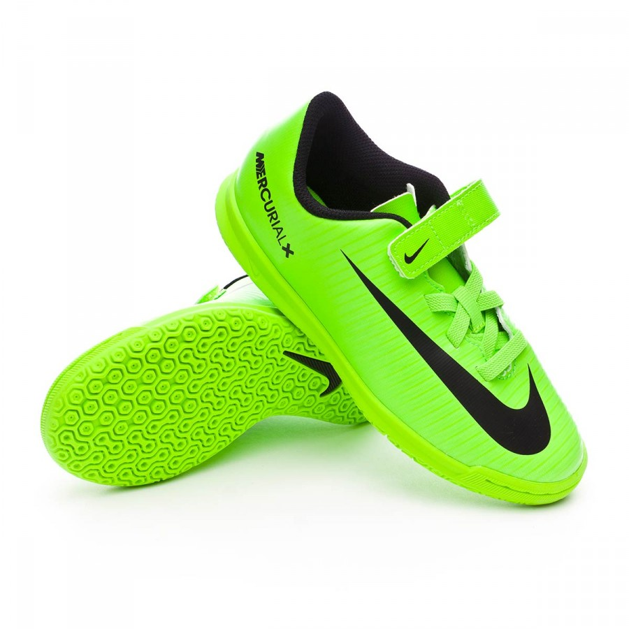 new products 6be98 5583f Zapatilla MercurialX Vortex III v. IC Niño Electric green-Black-Flash  lime-White