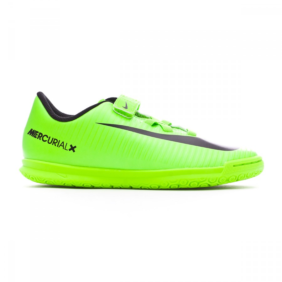 big discount newest collection discount sale Futsal Boot Nike Jr MercurialX Vortex III v. IC Electric green ...