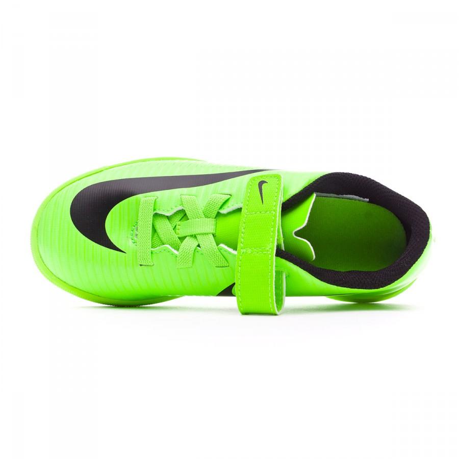 Tacón Sin corto  Futsal Boot Nike Jr MercurialX Vortex III v. IC Electric green-Black-Flash  lime-White - Football store Fútbol Emotion