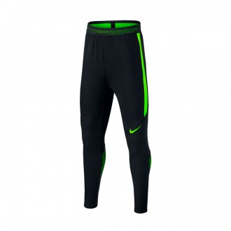 Pantalón largo  Nike Dry Strike Niño Black-Electric green