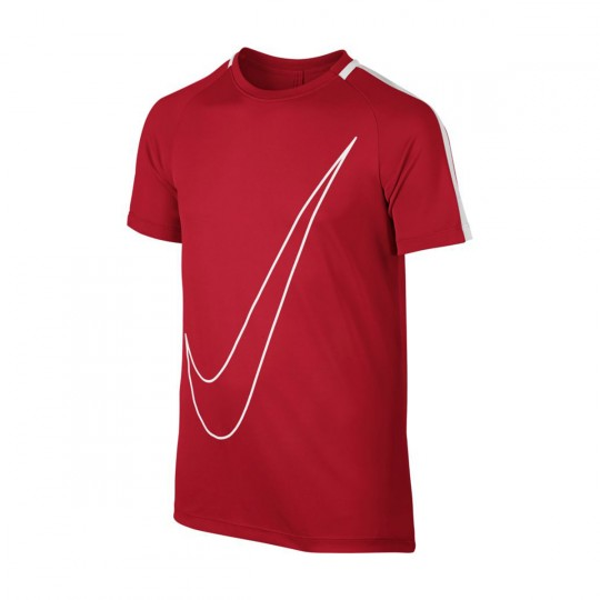 Maillot  Nike jr Dry Academy Football University red-White