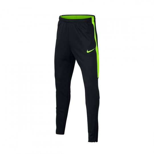 Pantalón largo  Nike jr Dry Academy Football Black-Electric green