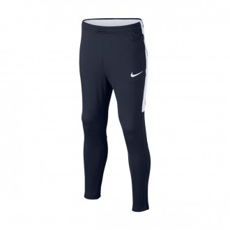 Pantalón largo  Nike Dry Academy Football Niño Obsidian-White