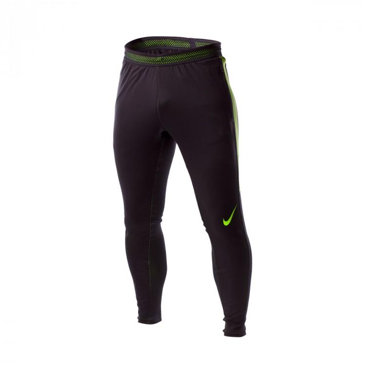 67ab8803580f3 Long pants Nike Flex Strike Black-Electric green - Tienda de fútbol ...