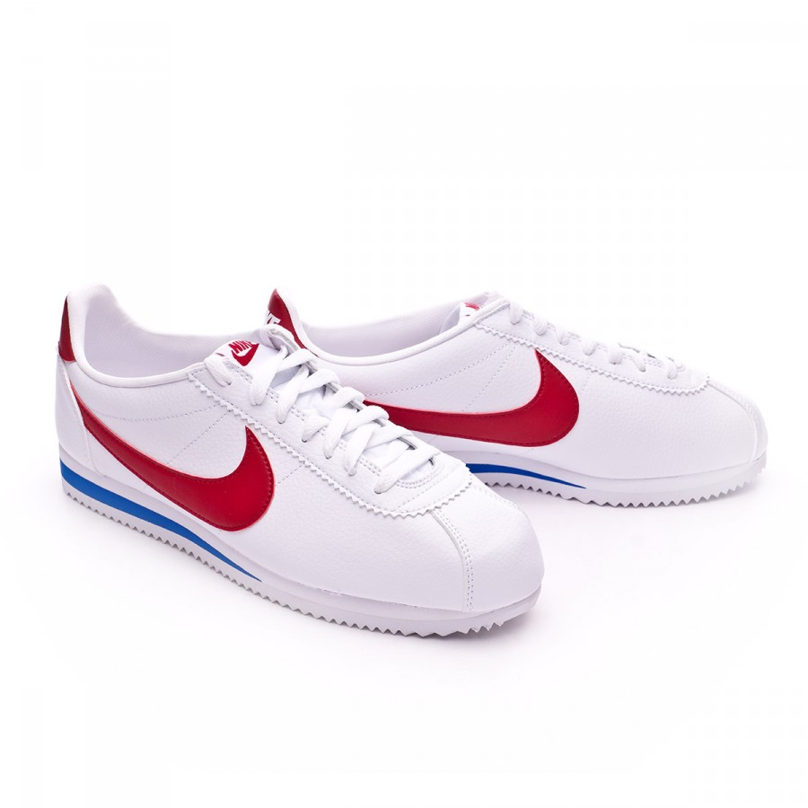 san francisco c93b4 c0882 Nike Classic Cortez Leather Trainers. White-Varsity red-Varsity royal ...
