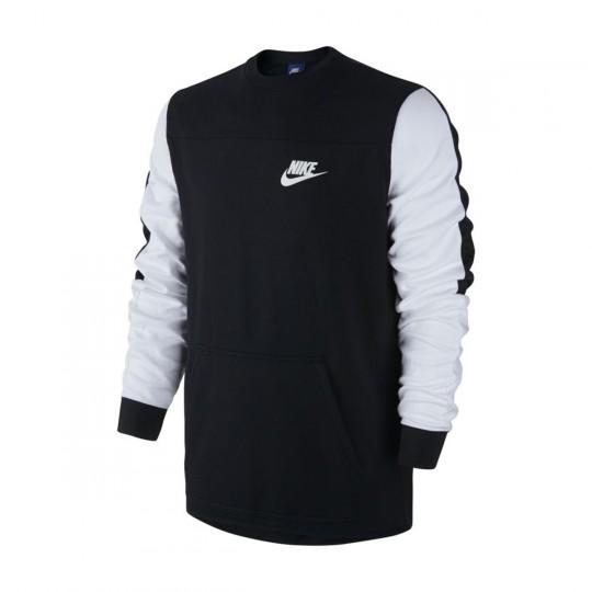 Sudadera  Nike Advance 15 Black-White