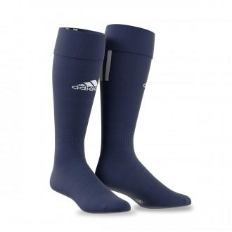 Meias  adidas Santos 3 Stripe Azul Marinho-Branco
