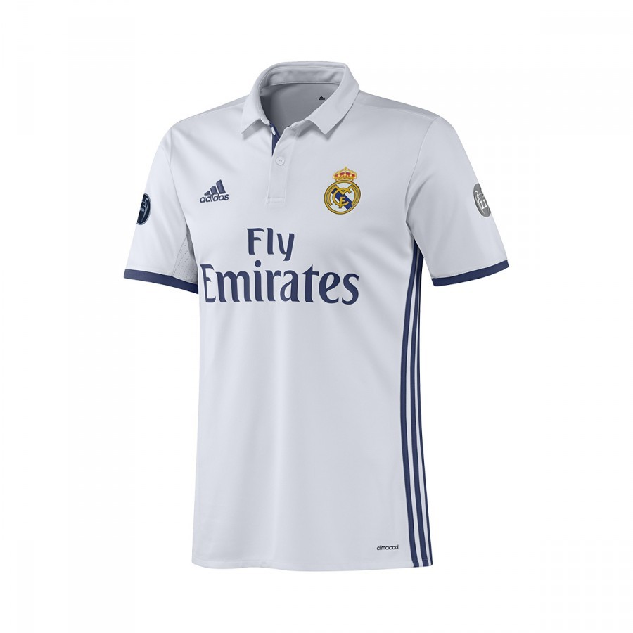 Jersey adidas Jr Real Madrid Home UCL 2016-2017 Crystal White-Raw ... 4055de63acfad