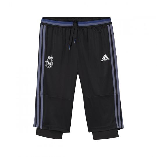 Pantalón pirata  adidas jr Real Madrid training 2016-2017 Black-Super purple