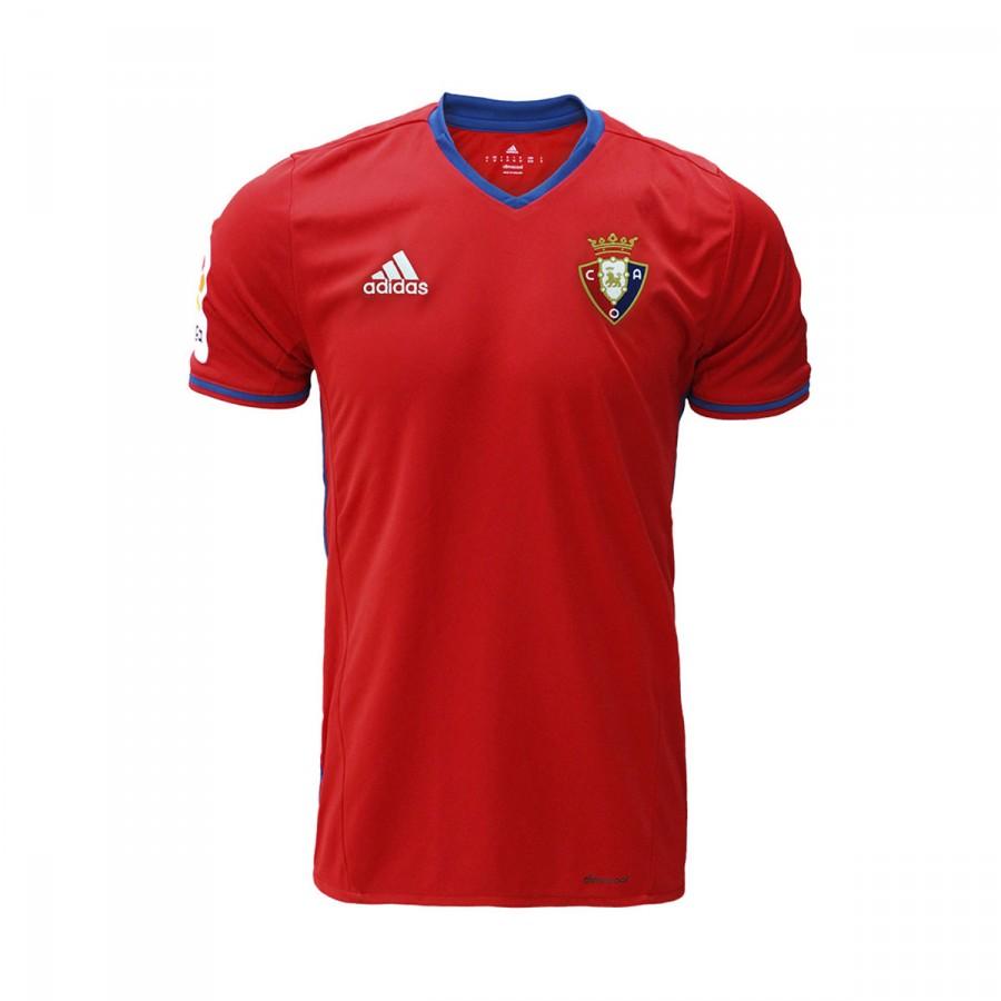 f677cb98ee27b Camiseta adidas Club Atlético Osasuna Primera Equipación 2016-2017 Scarlet  - Tienda de fútbol Fútbol Emotion
