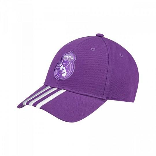 Gorra  adidas Stripes 3S Real Madrid Ray purple-Crystal white