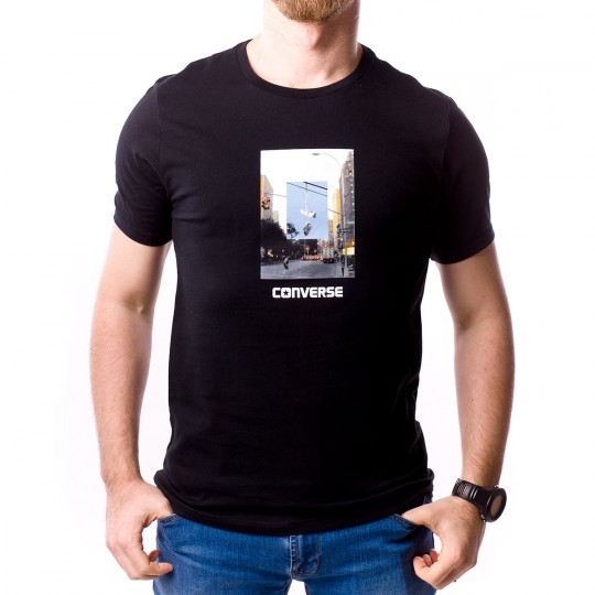 Camiseta  Converse City Hanging Chucks Black