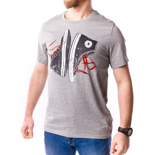 Camiseta  Converse Chuck Illustration Vintage grey heather