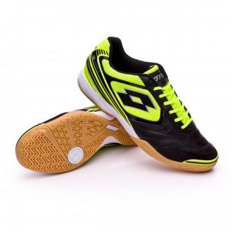 Sapatilha de Futsal  Lotto Tacto II 200 Yellow safety-Black