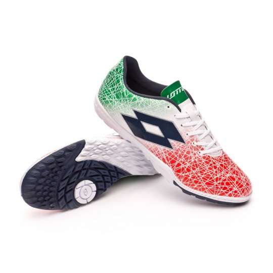 Zapatilla  Lotto Zhero Gravity VIII 700 Turf White-Green-Red