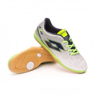 Sapatilha de Futsal  Lotto Jr Zhero Gravity VIII 700 ID Silver metallic-Blue
