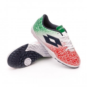 Sapatilha  Lotto Jr Zhero Gravity VIII 700 Turf White-Green-Red