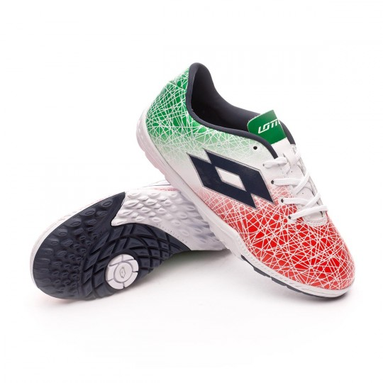 Zapatilla  Lotto jr Zhero Gravity VIII 700 Turf White-Green-Red