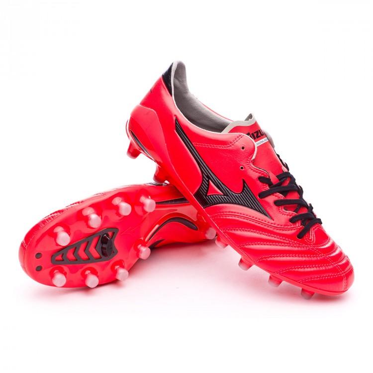a1ea685813507 Football Boots Mizuno Morelia NEO II MD Fiery coral-Black - Tienda ...