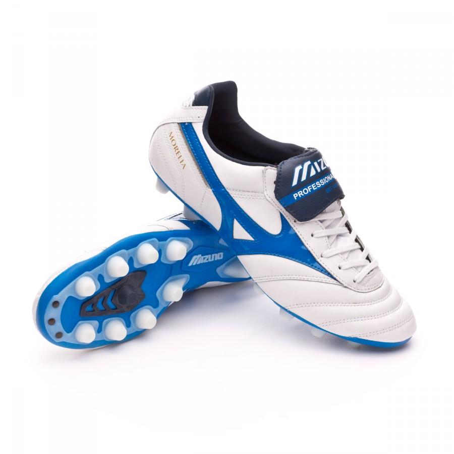 b53ccf61b610e Chuteira Mizuno Morelia II MD White-Directoire blue - Loja de futebol  Fútbol Emotion