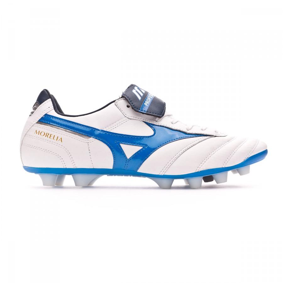 be70b9d32 Football Boots Mizuno Morelia II MD White-Directoire blue - Football store  Fútbol Emotion