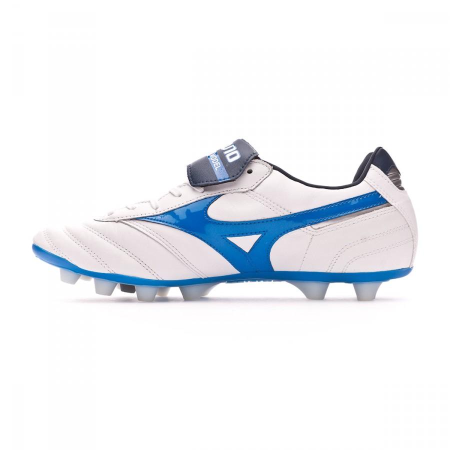 3a7340b976617 Zapatos de fútbol Mizuno Morelia II MD White-Directoire blue - Tienda de  fútbol Fútbol Emotion