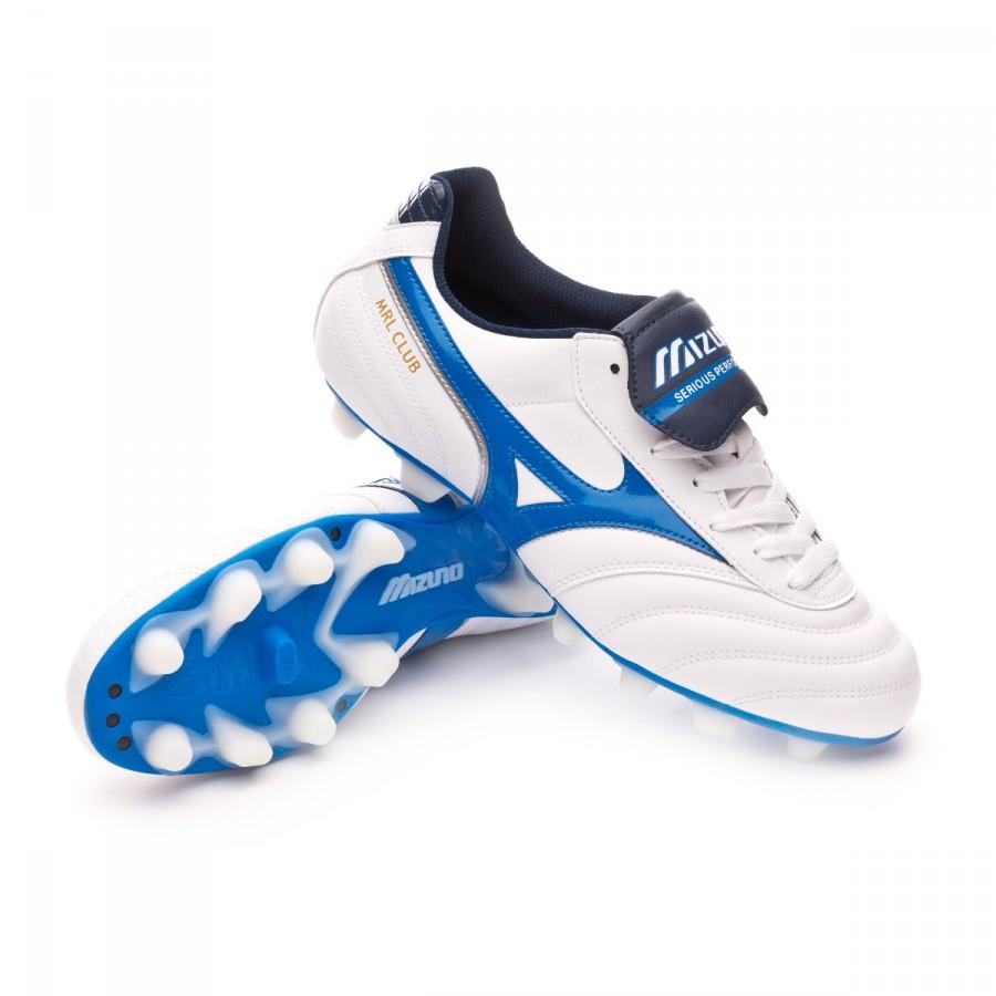 146f04e0f Football Boots Mizuno MRL Club MD White-Directoire blue - Football ...