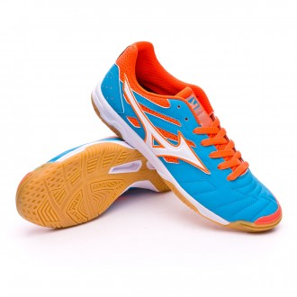 Sapatilha de Futsal  Mizuno Classic 2 IN Atomic blue-Orange crown fish