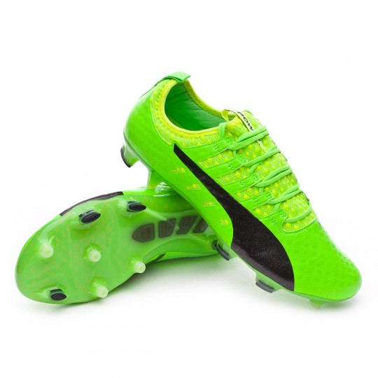 Chuteira  Puma evoPOWER Vigor 1 FG Green gecko-Black-Safety yellow