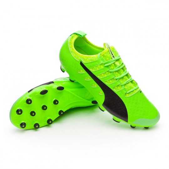 Chaussure  Puma evoPOWER Vigor 2 AG Green gecko-Black-Safety yellow