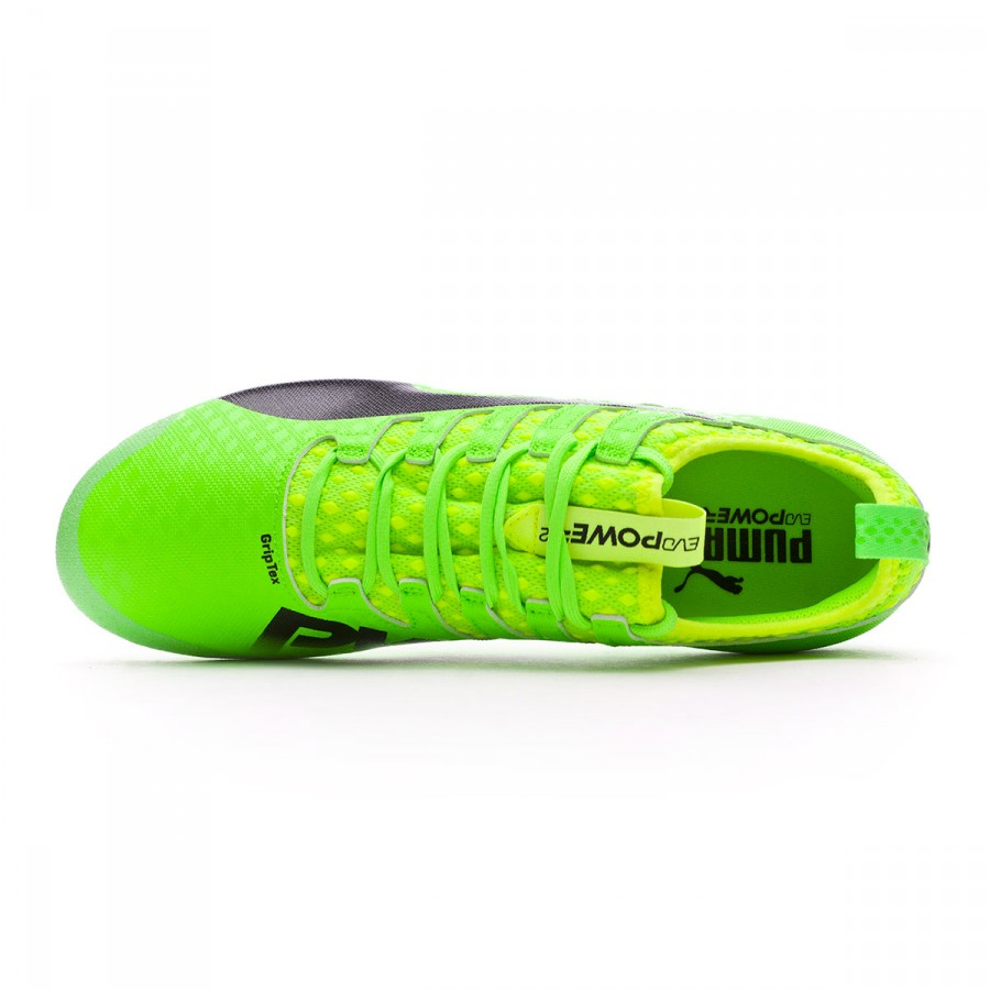 55ba8c342 Football Boots Puma evoPOWER Vigor 2 AG Green gecko-Black-Safety yellow -  Football store Fútbol Emotion