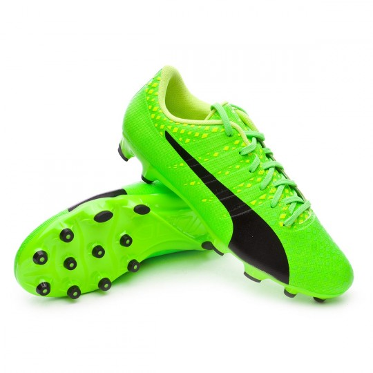 Chaussure  Puma evoPOWER Vigor 3 AG Green gecko-Black-Safety yellow
