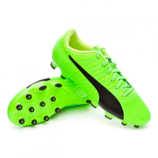 Chaussure  Puma evoPOWER Vigor 4 AG Green gecko-Black-Safety yellow